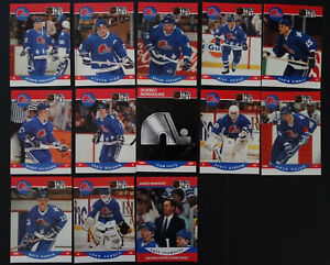 1990-91-Pro-Set-Quebec-Nordiques-Series-2-Team-Set-of-13-Hockey-Cards