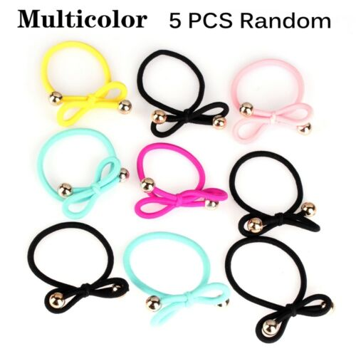 Women Elastic Hair Bands Bowknot Ponytail Holder Tie Gum Rubber Hairband HOT!!!