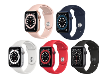 Apple Watch Series 6 44mm GPS Smartwatch (5 colors)