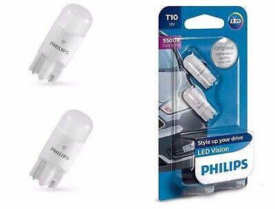 PHILIPS 127916000KB2 VISION LED  W5W T10   Pure White 5500K 12V w2.1x9.5d (2 pc)