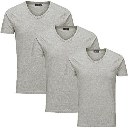 Jack Jones T-Shirt Herren 3-4er PACK Basic S,M,L,XL,XXL V Neck Kurzarm T Shirt
