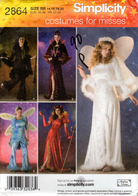 Sewing Pattern Simplicity 2864 Madame Angel Fairy Halloween Costumes ...