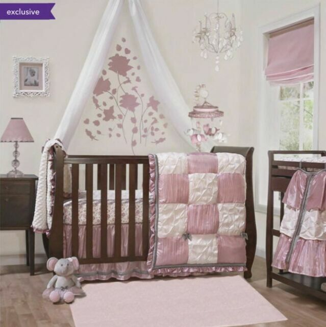 The Peanut Shell Bella 6 Piece Crib, The Peanut Shell Bella 6 Piece Crib Bedding Set
