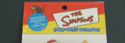 THE SIMPSONS POP-OUT PEOPLE MERRY XMAS SET 8 characters and 2 backgrounds