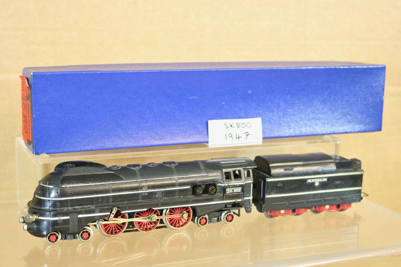 Märklin Sk 800 DB 4-6-2 Klasse Br 016 Dampflok Lokomotive 1947 Version Nl