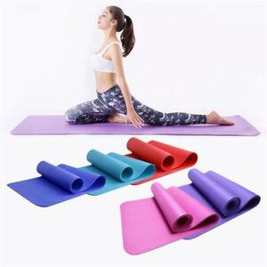 10mm-Thick-Yoga-Mat-Gym-Fitness-Equipment-Pilates-Non-Slip-Training-Physio