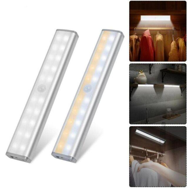 24 LED USB Rechargeable Lights Wireless PIR Motion Sensor Closet Stick-on Lamps