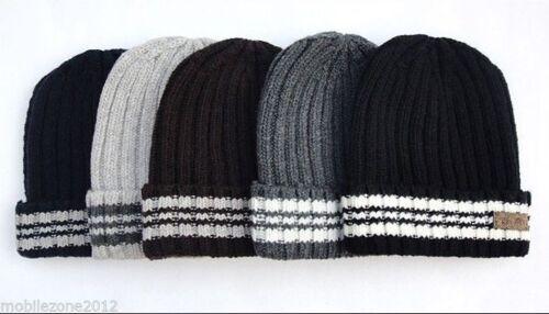 Uomo Eleganti Designer Cappello Invernale Bianco Caldo Lavorato a Maglia