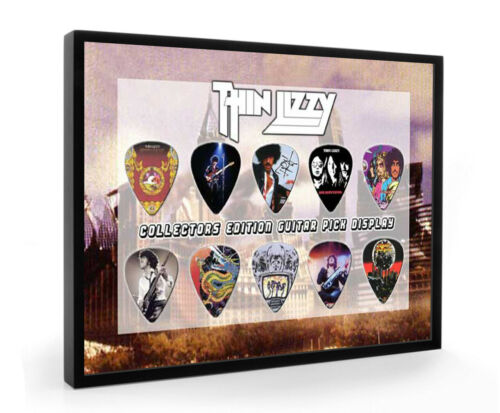 Thin Lizzy A5 Guitar Pick A5 Guitar Pick Framed Display