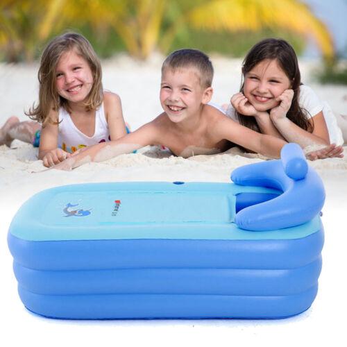 Neu Aufblasbare Badewanne Spawanne Mobile Duschbadewanne Bade Indoor Outdoor PVC