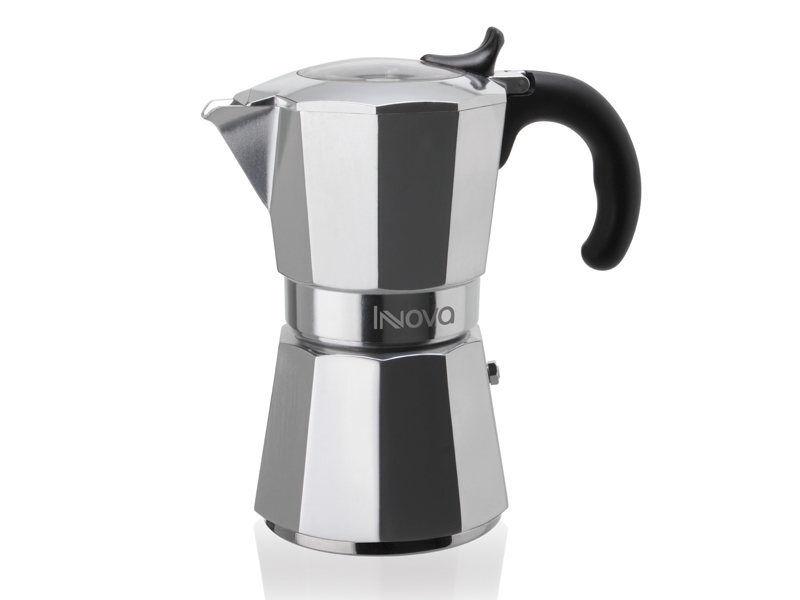 Rotex Caffettiera Bialetti moka induction 3 6 tazze caffè induzione nera black