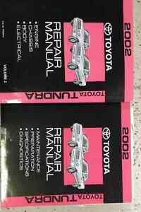 2002-Toyota-Tundra-Camion-Servicio-Tienda-Reparacion-Taller-Manual-Juego-Nuevo