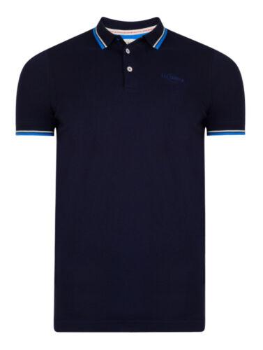 Lee Cooper Maglietta Polo Uomo Cotone Jersey T-shirt Top NUOVA lanridge Bianco Blu Navy