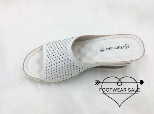 Venta De Calzado Para Mujer Sandalias Cuña Plataforma Verano Cómodo Con Tachas Talla 24hrs