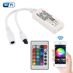 Mini-WiFi-WLAN-RGB-RGBW-LED-Streifen-Controller-144W-Fuer-Smartphone-Echo-Alexa