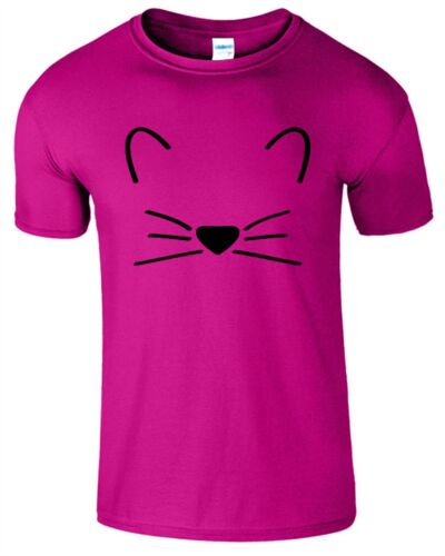 Kitten Mens T-Shirt Meow Carzy Lover Cat Animal T Shirt Womes Present Gift Top