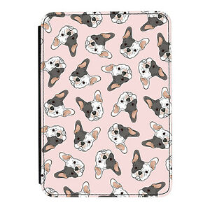 White-French-Bulldog-Pink-Kindle-Paperwhite-Touch-PU-Leather-Flip-Case-Cover