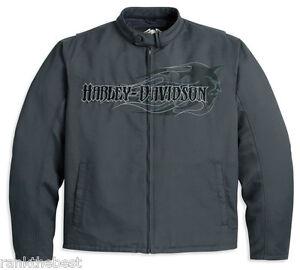 HARLEY-DAVIDSON-Hombre-TRUST-ME-LLAMA-DIABLO-Chaqueta-Gris-97470-11vm-M-L-NUEVO