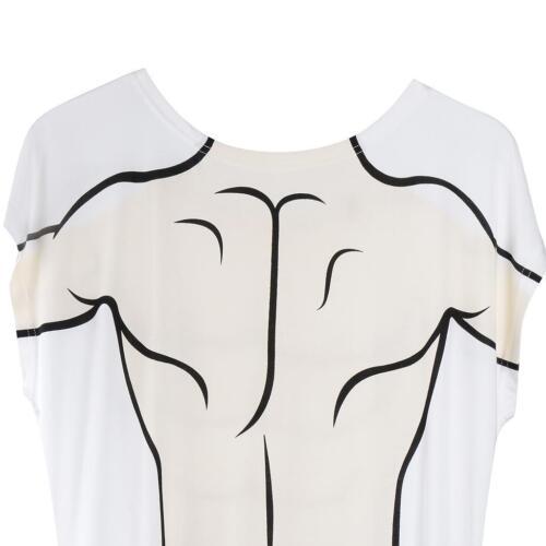 Funny Women/'s Bikini Muscle Man Printed Beach Dress Swimwear T-Shirt Party Dress