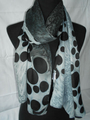 Scarlet Bijoux ® XL bufanda negro-gris 50x180 CM pañuelo nuevo * 037 *