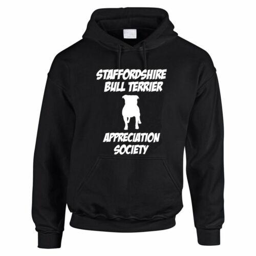 Staffordshire Bull Terrier apprezzare società-Divertimento a tema Uomo Felpa Con Cappuccio Felpa Con Cappuccio