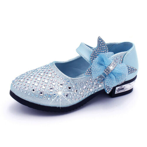 Kid Girls Glitter Sandals Bridal Wedding Party Princess Bridesmaid Shoes Size