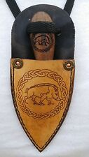 Hand made Patch knife POW WOW hunting Neck Boot Knife Celtic boar sheath