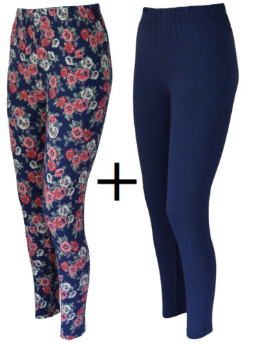 2-er Pack Leggings Leggings en coton-Leggings Pantalon élastique taille 36 38 40