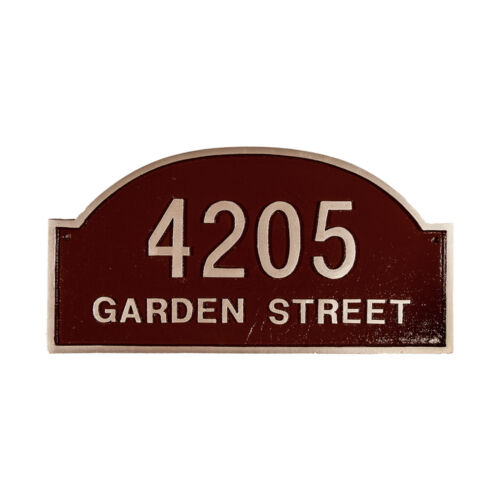 DOVER Address Plaque Lawn Marker House Sign Numbers wall Custom Made 2 order