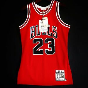size 40 91d6a 7b545 100% Authentic Michael Jordan Mitchell & Ness 85 86 NBA ...
