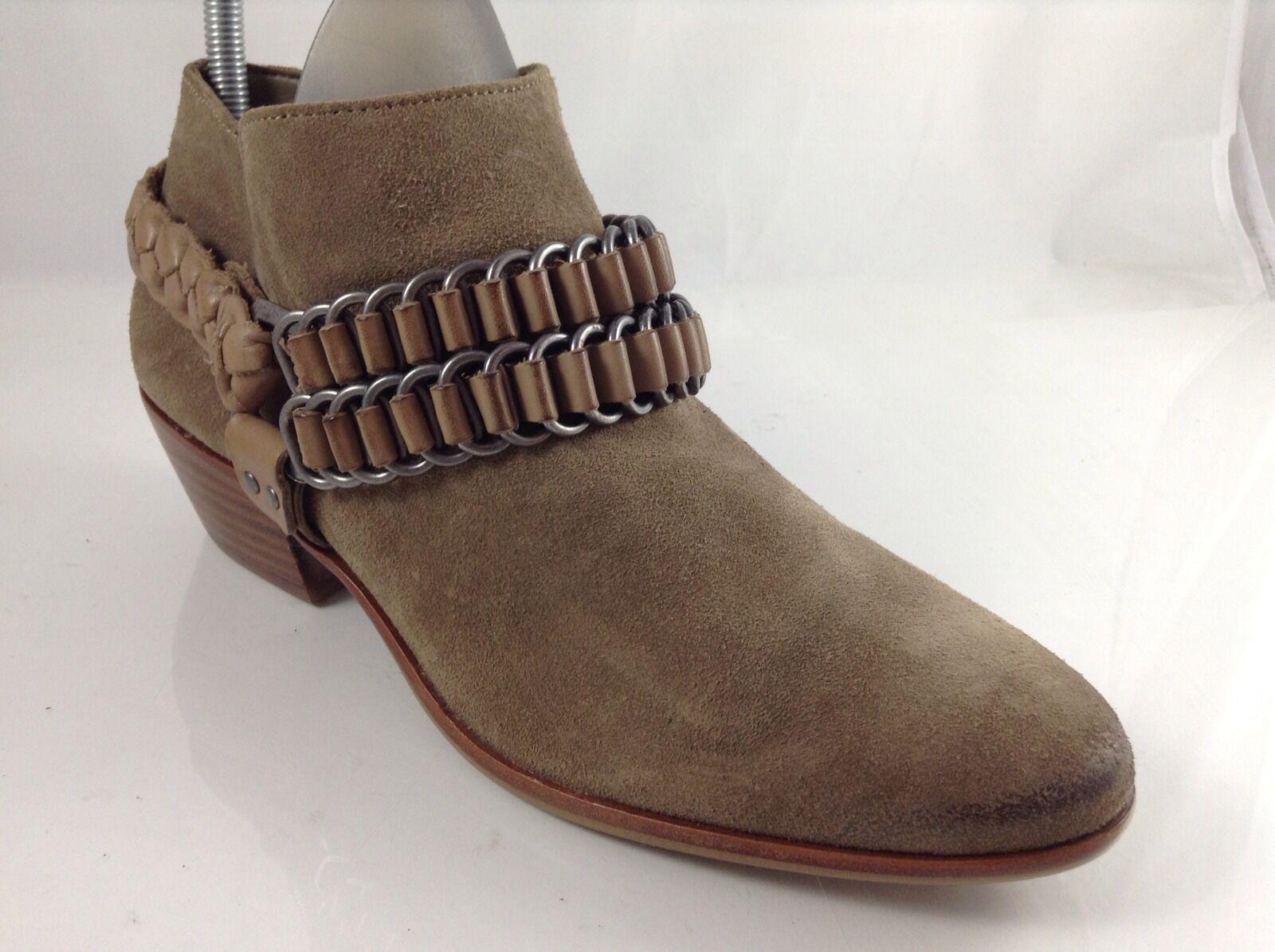 Sam Edelman Damenschuhe Beige Leder Ankle Stiefel 7.5 M