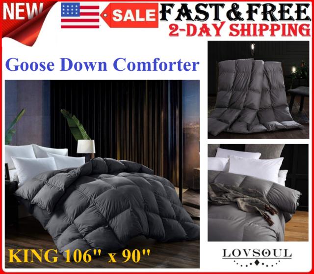 All Season Down Alternative Comforter Egyptian Cotton King Size Black Striped