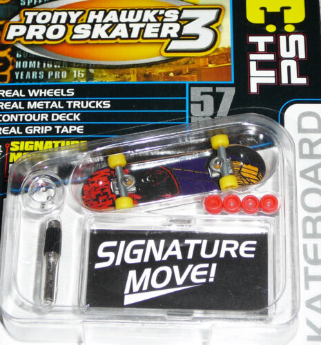 Tech Deck 57mm Mini Finger Skateboard Tony Hawk Pro Skater Vintage 2002