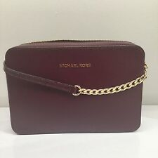 NWT Michael Kors Jet Set Travel Large East West EW Crossbody Plum Bag