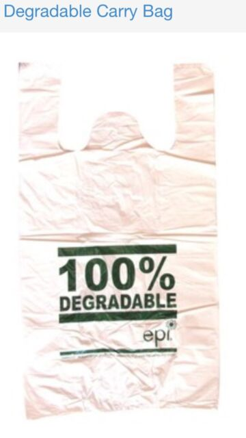 1000 SMALL Plastic bags/ Shopping carry bags, 430mm x 220mm +120mm Envi.Friendly