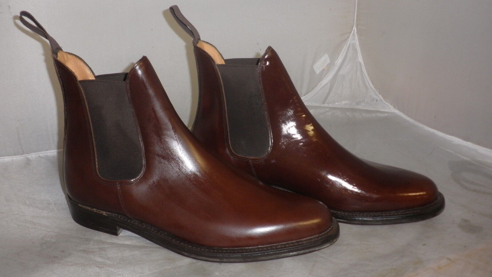 Brown Leather Chelsea Boots With Leather Soles Size 8.5 -  Not In Original Box