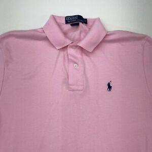 Polo Ralph Lauren Polo Shirt Men's Small Short Sleeve Pink High Low Hem Cotton