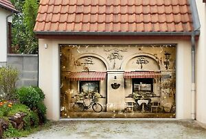 Image Is Loading 3D Nice Cafe 55 Garage Door Murals Wall