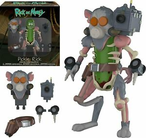 Funko Action Figure: Rick & Morty - Pickle Rick With Laser [Interchangeable] NEW
