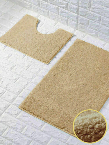 Luxury Shiny Sparkling 2pcs Bath Mat Sets Non Slip Water Absorbent Bathroom Rugs