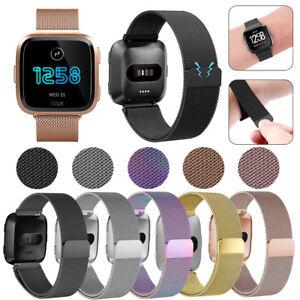 For-Fitbit-Versa-Metal-Milanese-Magnetic-Loop-Strap-Stainless-Steel-Wrist-Band