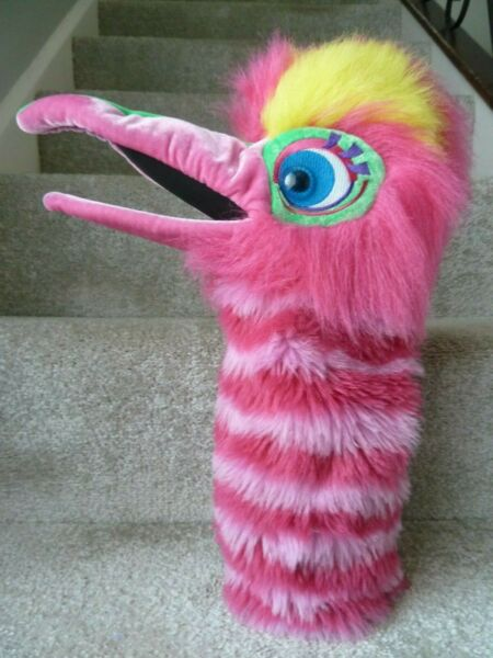 """17"""" Puppet Company Co Pink Yellow Bird Main Gant Marionnette Perroquet Douce Peluche Toy Paquet éLéGant Et Robuste"""
