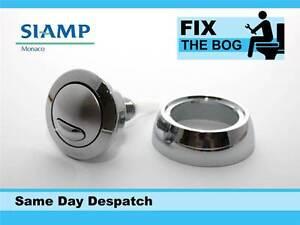 Contemplatif Siamp Optima 49 Toilette Bouton Poussoir Double Flux Économie D'eau Chrome