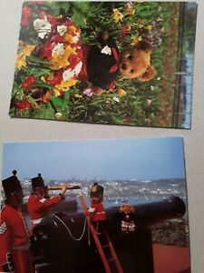 2x Postcards of Guernsey Teddies. Cute teddy bears