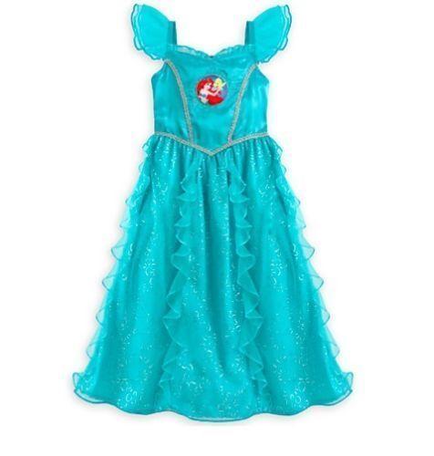 NWT Disney Store Princess Ariel Nightgown Costume Little Mermaid Girls  toddler 2 4a0ff7baf