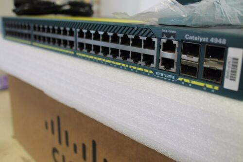Cisco WS-C4948  WS-C4948-S 48 Port L3 Switch Same As WS-C4948-E