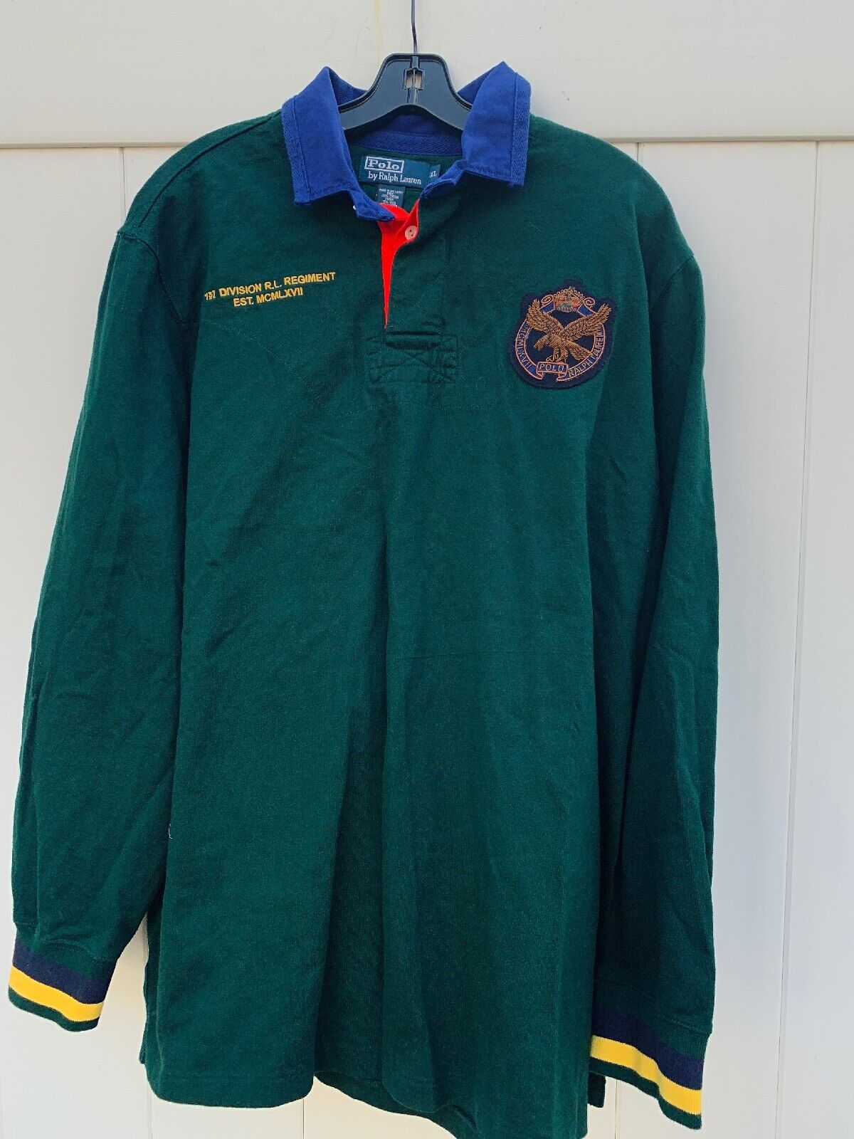 NWT Polo Ralph Lauren  1st Division RL Regiment Longsleeve Rugby Shirt Size XL