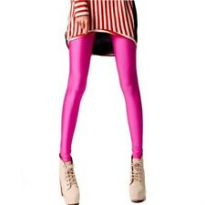 Lady Slim Neon Shiny Pants Stretch Candy Colors High Elastic Pencil Skinny Sexy