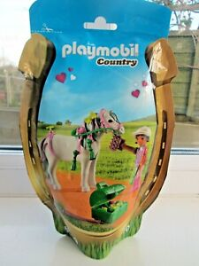 PLAYMOBIL-6969-HORSE-GROOMER-WITH-HEART-PONY-NEW