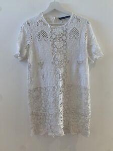WHITE-CROCHET-DRESS-M-ZARA-SUMMER-HOLIDAY-IBIZA-MARBS-PRETTY-GLAM-CUTE-BOHO-CHIC